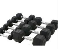 Wholesale High Quality Rubber Hex Dumbbell