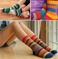 Wholesale Indian Wind Socks Colorful Womens Ankle Socks Ladies Casual Cotton Socks Cute Striped High Socks CW18002