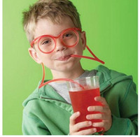 Wholesale Funny Drinking Straw glasses Frames lovely DIY Crazy Straw Glasses for party favor