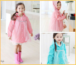 Wholesale 2014 New Frozen Fashion Baby Girls frozen raicoat Clothes Snow Queen Elsa Blue Gauze Coat Princess Anna Raincoat Jacket pc T