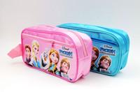 Coin Purses Blue Cartoon (12pcs lot) Brand New Children Waterproof Pencil Case Frozen Pencil Bag Free Shipping