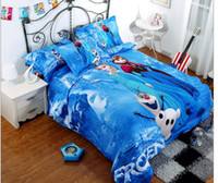 100% Cotton Woven Home 100% Cotton Frozen Bedding Elsa Anna Olaf Bedding for Girls 3D Bedding for Kids Quilt cover Pillow Case artoon bedding DHL free