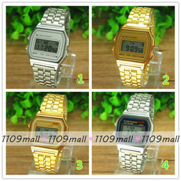 Wholesale 100pcs NO Logo Fashion Rectangle Dial Watch Men Students Casual Ultrathin Digital Watch Alloy watch band colors Available