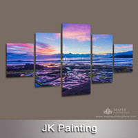 Digital printing 3d pictures - 5 Piece Canvas Art Picture Modern Artwork Home Decoration Wall Painting for Living Room D Painting Modern Landscape Painting