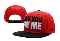 Snapbacks Unisex Spring & Fall Freeshipping Sneaktip Fuck you pay me Snapback hats in red fashion men & women's fashion adjustable baseball caps !
