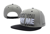 Snapbacks Unisex Spring & Fall Cheap Sneaktip Fuck you pay me Snapback hat in grey cheap men & women's fashion adjustable strapback cap !