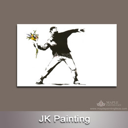 Wall Art Decor Picture of Banksy Canvas Art Painting from Digital Picture for Modern Home Living Room Drop Ship -- Wall Pictures