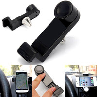 Wholesale Universal Car Air Vent Mount GPS Holder Degree Rotating for iPhone Plus Samsung Galaxy S6 HTC LG Mobile Phone