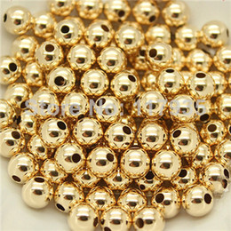Wholesale 20beads lot quality pure copper rolled 14k gold filled 2-10mm spacer round Loose beads jewelry making no fading