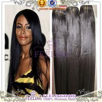 Brazilian Hair Straight Natural Color Grade 6A 3 4pcs brazilian remy human italian light yaki straight virgin hair weave natural color soft relaxed for American women