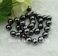 Wholesale Natural Magnetic Hematite Round Beads AAA quality mm stone Loose beads jewelry bracelet and neclace factory price