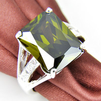 Solitaire Ring South American Men's Birthday Party Dresses For Women Natural Green Peridot Zircon Rings R0330