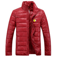 Wholesale winter new men s Stand Collar outdoor Down jacket Cultivate one s morality Thicken movement coat