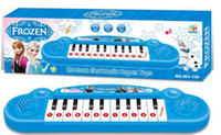 Wholesale 2014 New Arrival Hot Sale Fashion Europe Frozen Anna Elsa Children Kids Electronic Keyboards Music Demonstration Songs cm E0492