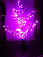 LED Artificial Bonsai Peach Blossom Tree artificial peach tree - LED Artificial Bonsai Peach Blossom Tree LED Bulbs m Height VAC Pink Rainproof Outdoor Use Free Drop Shipping Night Lamp