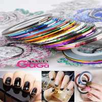 Wholesale Professional Nails Products Supply rolls different colors meters nail salon nail care beauty nail art decoration nail stickers