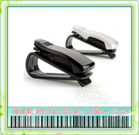 Gel 0 Fastener & Clip Wholesale-MN-free shipping Auto Vehicle Car Interior Clip Holder For Glasses Business Card Tickets Portable