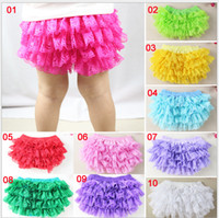 Cloth Diapers 6-12 Months 6-12 Months Children Summer Clothes Baby Girl Lace Tutu PP Pants Multi color Photo clothing Underpants Cotton Cloth Diaper Cover 6pcs lot