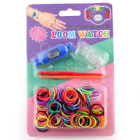 Wholesale Freeshipping Watch Loom Watch Candy Watch Kids Toy bands clips hooks watch Blister Packing