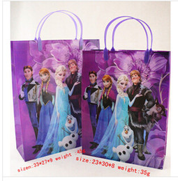 Wholesale Frozen PVC Bags Princess Anna Elsa Bag Gift Pouch for children Kids Shopping Bag Handbags DHL
