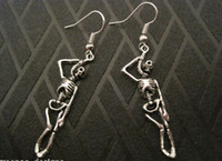 Wholesale Hot pair SUICIDE HANGING SKELETON SP Gothic Earrings HALLOWEEN Gift Bag FANCY DRESS
