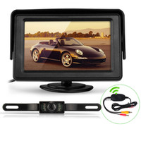 "Car Camera   7"" TFT LCD Car Rear View Reverse Monitor+Wireless Transmitter+7 LED Camera Kit"