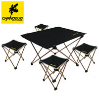 Camp Tables Backpacking 1.9 Pounds CHANODUG Ultra-light Portable Table Desk for Camping Outdoor Picnic folding camping table 8249
