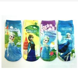 Wholesale Christmas gift Frozen series children short socks Anna Elsa princess child Sock styles kids baby boat socks
