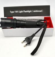 Wholesale New CREE Q5 EDC Torch LED Police Tactical Flashlight Electric Shocker Self defense Lanterns Lamp Light