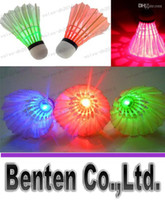 Wholesale LED Light Badminton Red Blue Green Flashlight Novelty Lighting Colorful Badminton LLFA6070