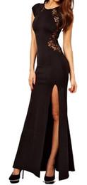 Wholesale Fashion Women Lady Sexy Split Night Out Dress Club Dress Slim Pencil Party Dress Street style Dress Runway Dress
