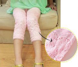 Wholesale New Arrival Children Summer Lace Leggings Pure Cotton Seven Points Girl Lace Short Leggings Kids Leg Pants Colour GX857