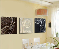 Abstract abstract canvas MODERN ABSTRACT CANVAS OIL PAINTING HANDPAINTE ART DECO 3 panels home deco art dinning room