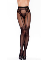 Wholesale Lingerie Stockings Sexy Women s Bodystockngs Pantyhose Thigh Highs Sexy Lace Banded Stockings BS27741