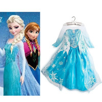 Girl Cartoon Star Cotton And Tulle Frozen Princess Queen Elsa Party Fancy Dress Girls Cosplay Costume Clothes 3-8Y