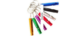 Wholesale Whistle Mixed Mini Aluminum Emergency Survival Whistle With Keychain Rescue Whistles survival Hot Selling