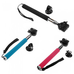 Wholesale Gopro Accessories Aluminium Telescopic Handheld Monopod with Tripod Mount Adapter for Gopro HD Camera Hero