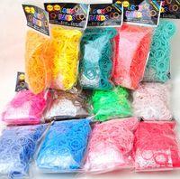 Plastic Bracelet  Popular fluorescent loom bands Luminous noctilucent rainbow loom rubber bands glow in dark loom bands diy bracelet kits dhl free promot