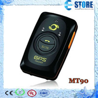 Wholesale Mini GPS tracker MT90 Waterproof IP65 Android tracking Mini Locator Meitrack SiRF IV Chip band Personal GPS tracker M