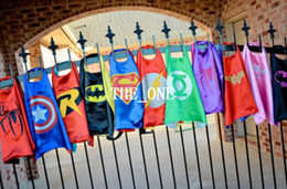Wholesale kids superman cape superhero cape children boy costume for children halloween party costumes children captain costume capes and cloaks hot