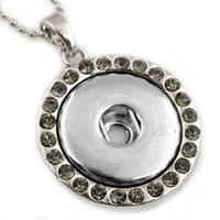 Wholesale A10352 newest stainlesss steel cm chain noosa pendent necklace charms button fashion jewelry