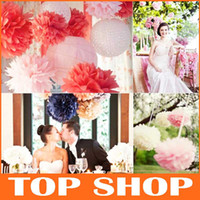 wreath supplies - Festival Wedding Decoration Supplies Decorative Flowers Wreaths Ball Colorful Tissue Pull Paper Flower Ball Wedding Bows JJ1003