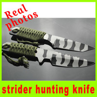 Wholesale Real pictures Strider HT Straight square Blade knife hunting knives fixed blade knife multi tool folding knife knives gift knife A220H