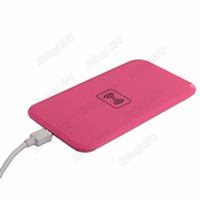 Wholesale 100 Qi Wireless Charger for Samsung Galaxy S3 S4 S5 NOTE iphone S Charging Pad by DHL EMS
