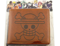 Wholesale Anime One Piece Luffy Recon Corps Bifold Sofa PU Leather Wallet Purse Brown Gift