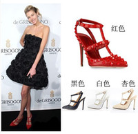 Men Spool Heel No Super beautiful shoes V family choke a small chili with paragraph pointed high-heeled shoes with two horizontal rivets 317- Chenxu spot