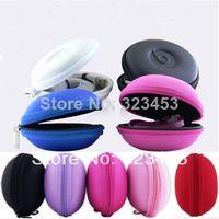Women's Coin Purses Zipper Wholesale-MN-Free shipping 10pcs lot Hard Case Earphone Headphone Earbuds SD Card Storage Bag Mini Coin Purse wholesale