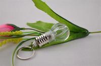 Wholesale 7 LED Light Bulb Shaped Ring Bulb Keychain Flashlight Key Ring background Lamp Holiday Gift shining Rainbow Color lights DHL