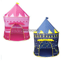 Tents Animes & Cartoons Cloth New Baby Toy Play Game House Children Beach Tent Kids Princess Prince Castle Indoor Outdoor Toys Tents Christmas Gifts 7378