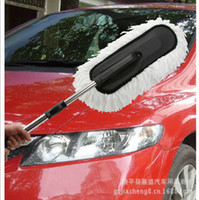Wholesale Supply of car wax mop microfiber duster dusting brush car vehicle with a stainless steel telescopic mop handle